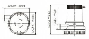 1500GPH Bilge Pump Diagram 1